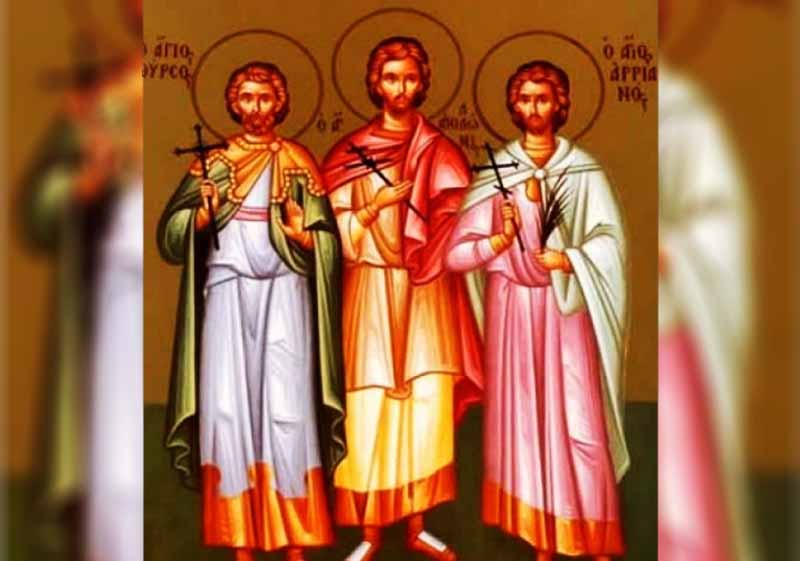 14 Декември - Св. мчци Тирс, Левкий, Филимон - информация за празника и кой празнува